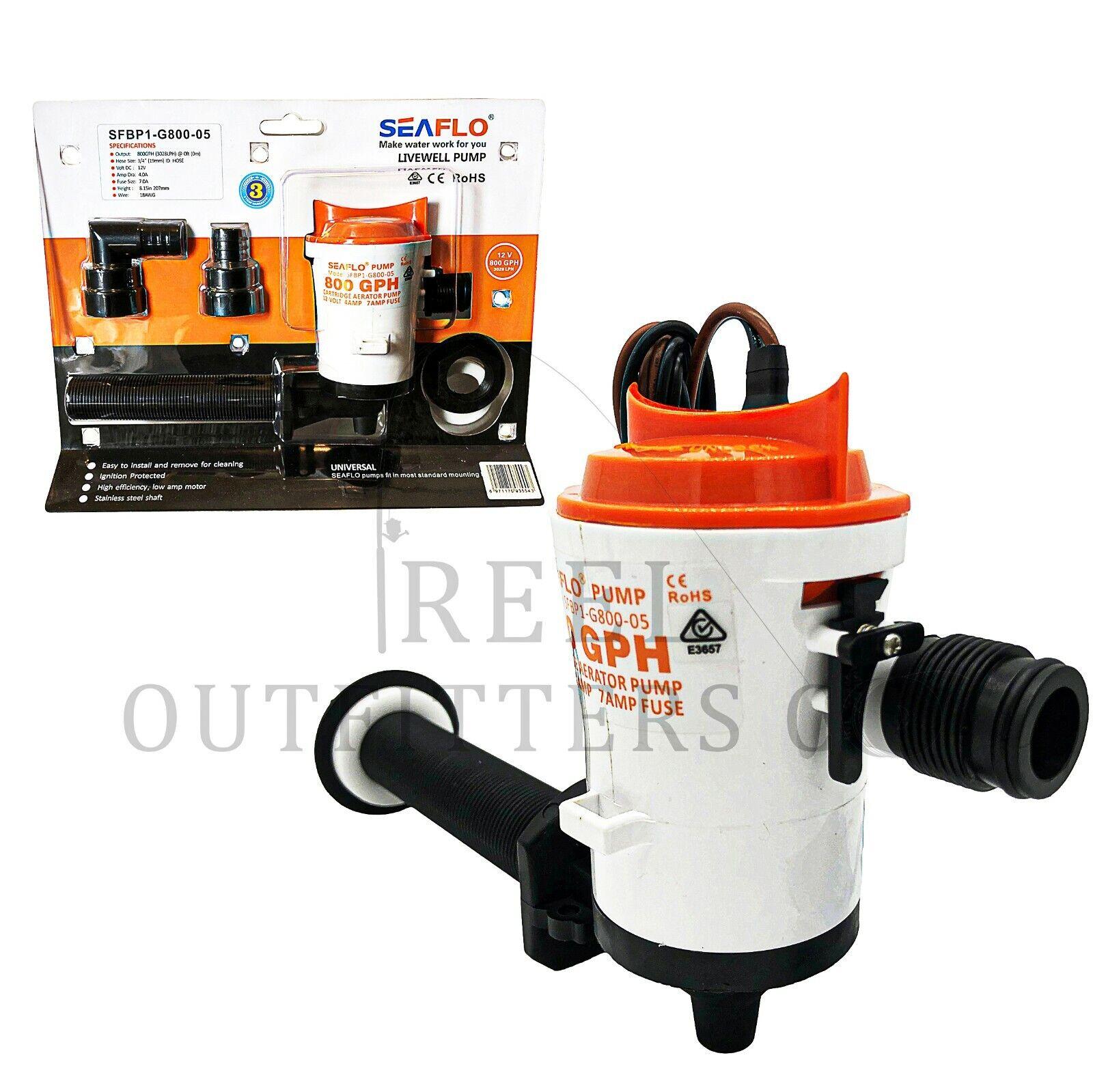 Livewell Bait Pump Johnson 12v 500gph Cartridge Aerator Bilge Type Pump