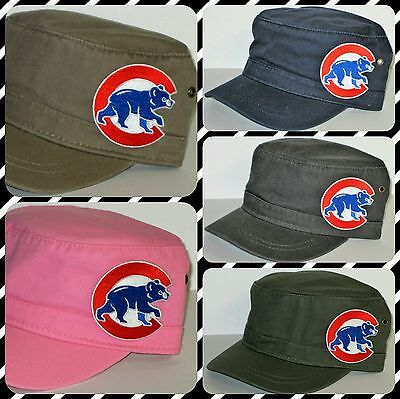 Chicago Cubs Cotton Twill Corps Hat ~CLASSIC MLB PATCH/LOGO ~5 Cool Color ~NEW