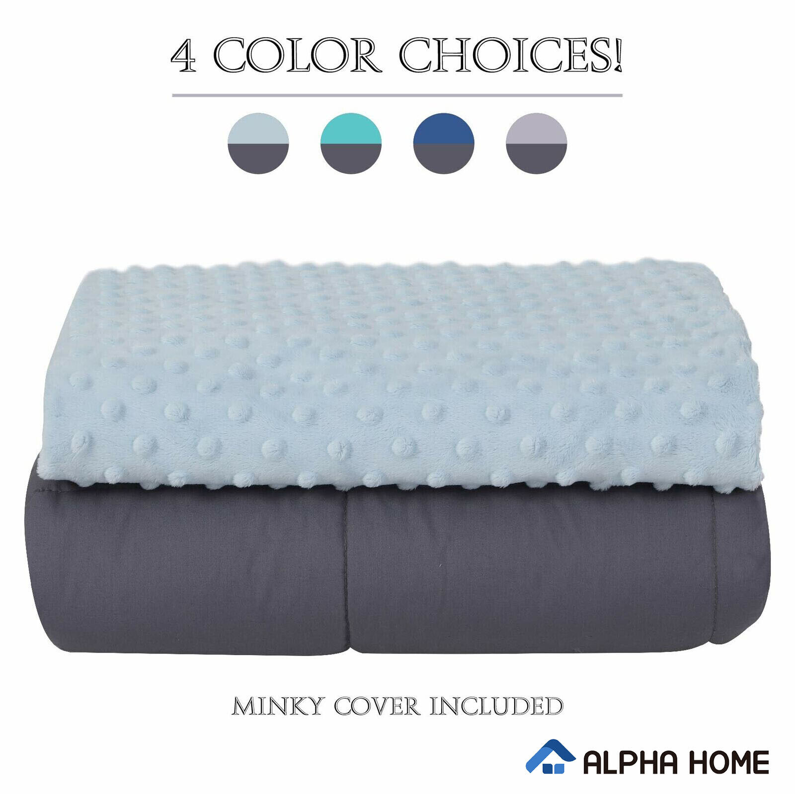 "ALPHA HOME Weighted Blanket 12lbs,48""x78"" Heavy Blanket for"
