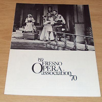 "1969/70 SEASON Program~""FRESNO OPERA ASSOCIATION""~Ballet/Theatre~ADS"