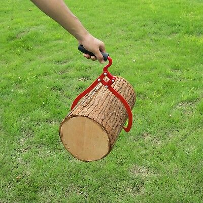 Timber Tongs With Handle 10 Inch Steel Log Lifting Carrying Outdoor Logging