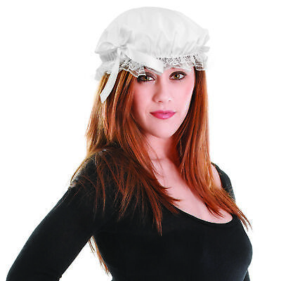 Damen Kostüm Party Maid Reiniger Viktorianisch Damen Mütze Hut mit - Maid Kostüm Accessoires