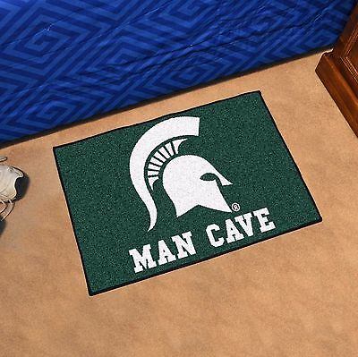 """Michigan State Spartans Man Cave 19"""" X 30"""" Starter Area Rug Mat"""