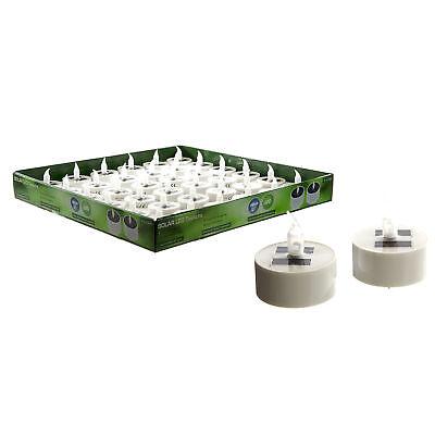 LED Solar Teelicht Solarlampe Solarleuchte Teelichter Kerze mit Dämmerungssensor ()