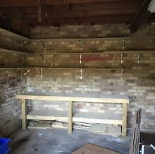 Work bench and shelves attached to wall North Narrabeen Pittwater Area Preview