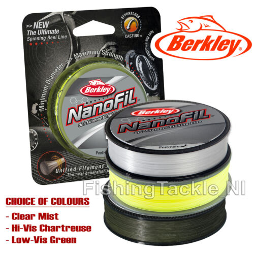 Berkley NanoFil - Next Gen Dyneema Uni-Filament Fishing Line - Super Smooth Cast
