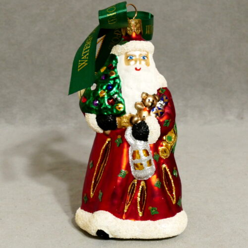 Christmas Ornament WATERFORD HEIRLOOMS SANTA Standing 2nd Edition USA SELLER