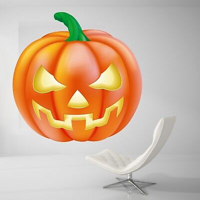 Halloween Night Wall Decal Living Room Pumpkin Wall Paper Sticker J453 - Halloween Pumpkins Live Wallpaper