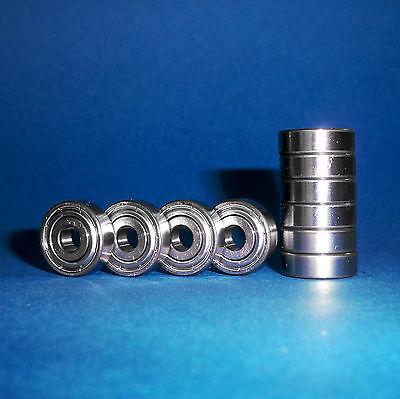 10 Kugellager 608 ZZ / 8 x 22 x 7 mm