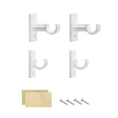 Lichtblick Träger Cafehausstange 4 Stück - Weiß Vitragestange Klemmstange - 4 Stück Wohnzimmer