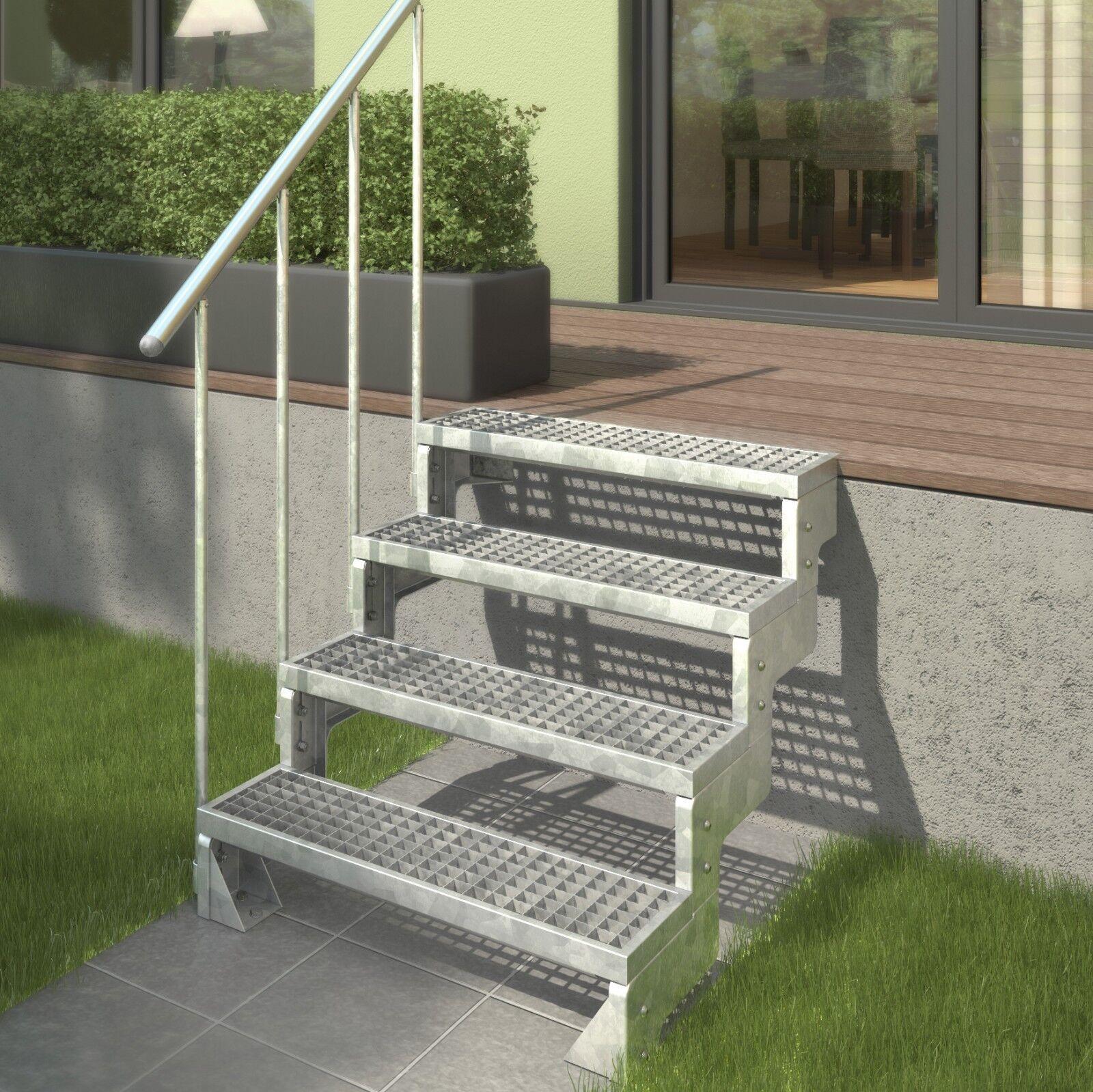 DOLLE Außentreppe Gardentop | Gitterroststufe | 2 - 14 Stufen | Gartentreppe |