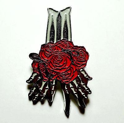 Grateful Dead Pin Skeleton Hands Roses Spring 1990 Too Other One Lapel Pinback