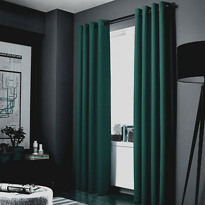 1 HUNTER GREEN PANEL ROOM DARKENING 99% BLACKOUT GROMMET WINDOW CURTAIN K34 108