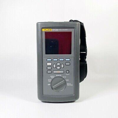 Fluke Dsp-2000 Cable Analyzer No Batteryno Accessories