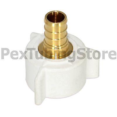 10 12 Pex X 78 Ballcock Nut Swivel Adapters - Brass Crimp Fittings