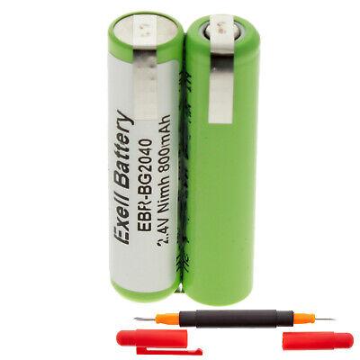 2.4V NiMH 800mAh Razor Battery For Philips BodyGroom 7100 TT