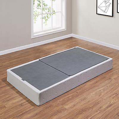 Half-Fold Metal Box Spring Twin Size Mattress Bed Foundation Platform