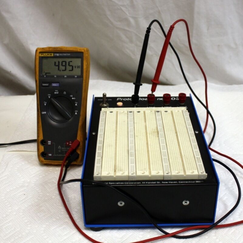 Continental Proto-Board 203A Solderless Breadboard Power Supply Voltages Tested