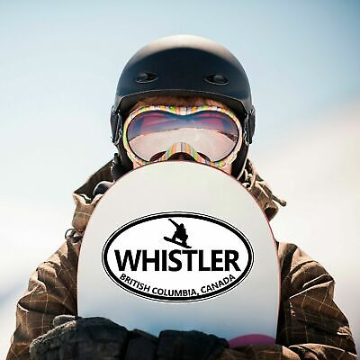Bc Sticker - Whistler Blackcomb BC oval sticker decal car truck window snowboard snowboarder
