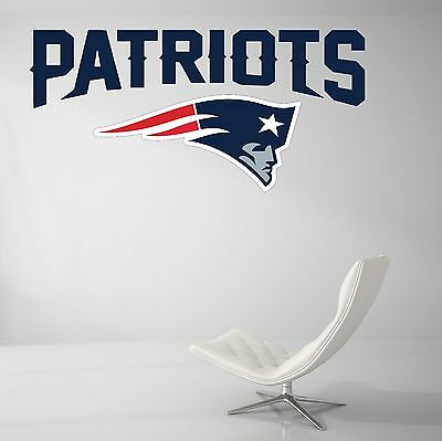New England Patriots NFL Football Wall Decal Vinyl Decor Room  Sticker Art J49 - New England Patriots Room Decor