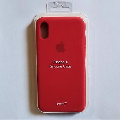 Authentic Apple iPhone X Silicone Case - Color Red