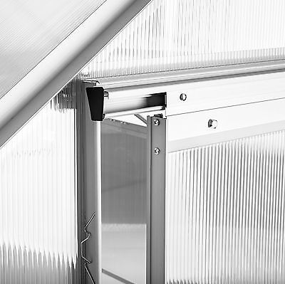 Alu Gewächshaus mit Stahlfundament 11,13m³ Treibhaus Gartenhaus Frühbeet Garten