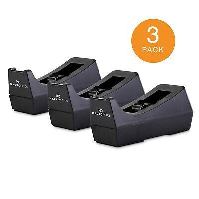 Mackoffice Desktop Tape Dispenser White 2 Pack For Office And School Supply