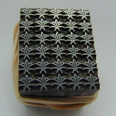 Printing Letterpress Printers Block 30 Tiny Floral Like Designs