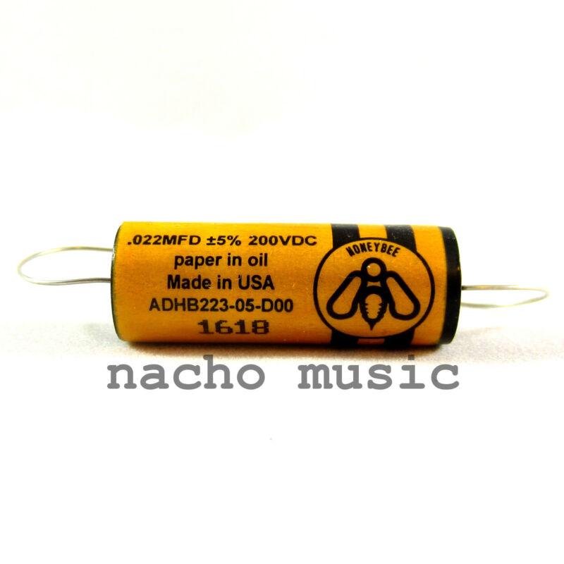 Honeybee Paper-in-Oil .022uF 200V Guitar Tone Capacitor