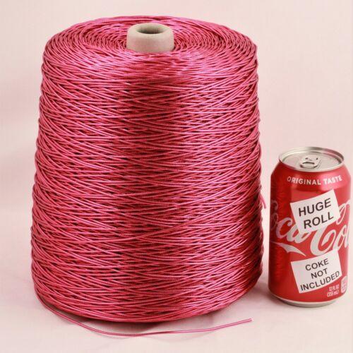 BULK LOT Solid Magenta Metallic #32 Needloft Nylon Craft Cord - 4,000 feet! USA