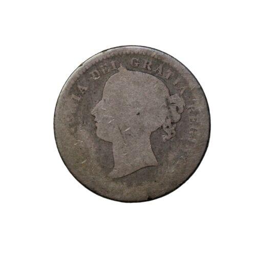 1871-H Canada Silver Dime 10 Cents KM#3 Queen Victoria Coin