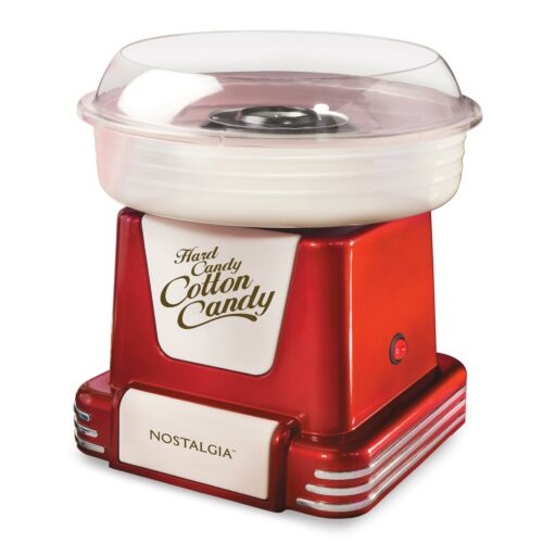 Retro Red Cotton Candy Machine with 2 Cotton Candy Cones