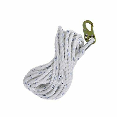 Peakworks Fall Protection Safety Lifeline Rope Grab 50 Ft Vertical Cable Ga...