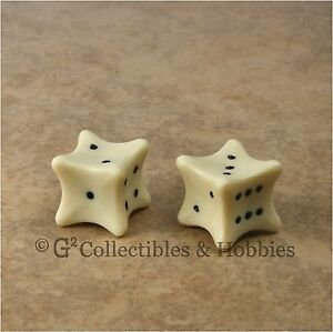 NEW 2 Bone Dice Pair D&D RPG Game D6 6 Six Sided Bones
