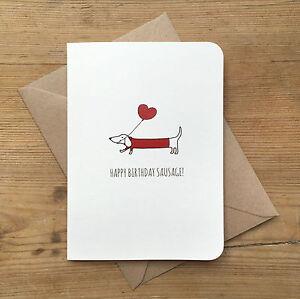 Dachshund birthday card ebay sausage dog birthday card dachshund envelope cute any colour available bookmarktalkfo Images