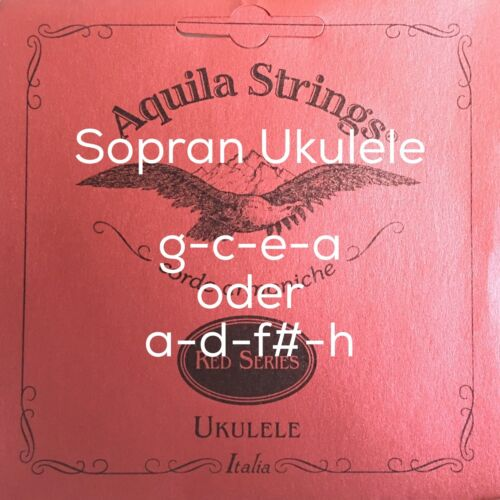 Aquila RED Ukulelen Saiten -ein kompletter Satz für Sopran Ukulele Soprano Uke |