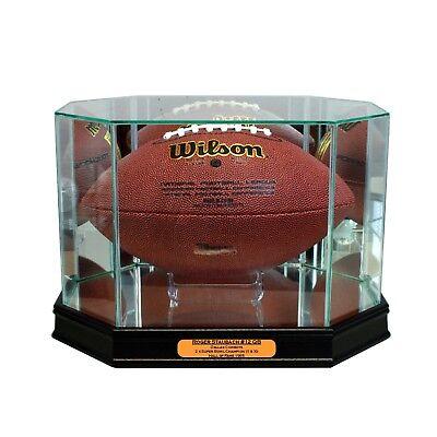 New Roger Staubach Dallas Cowboys Glass and Mirror Football Display Case UV