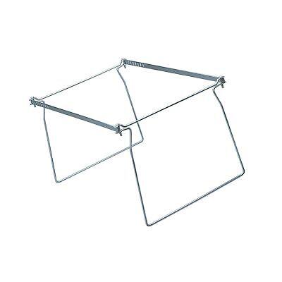 2 Smead Steel Hanging File Folder Frame Letter Size Gray Adjustable Length 23