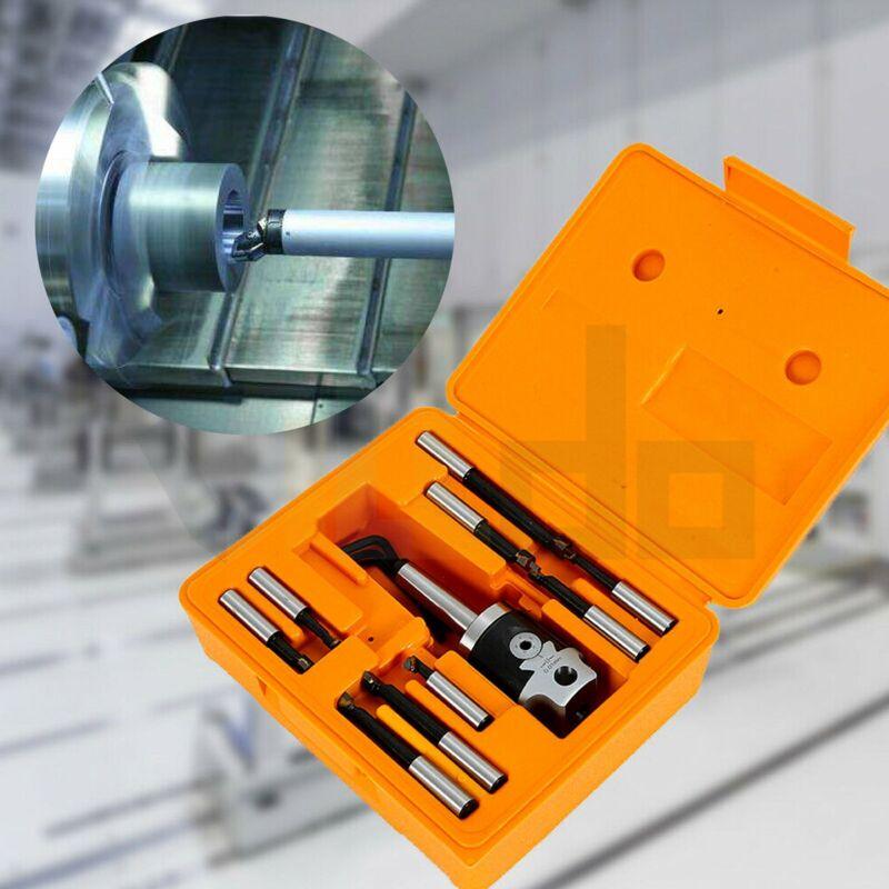 "12pcs 3"" Boring Head, R8 Shank  3/4 Carbide Boring Bar Set Combo Milling New"