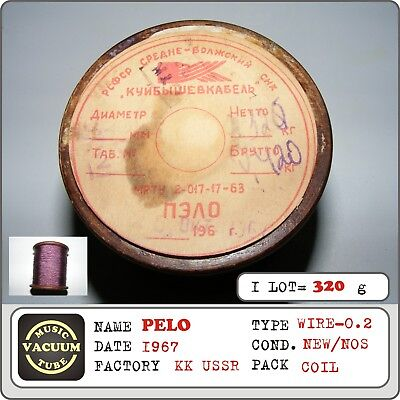 Pelo Coil Wire Polyester Thread Diameter - 02mm Ussr 1967 1coil 320g