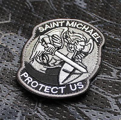 Heiliger Saint St. Michael Protect Us Schutzheiliger Morale Patch Aufnäher EDC
