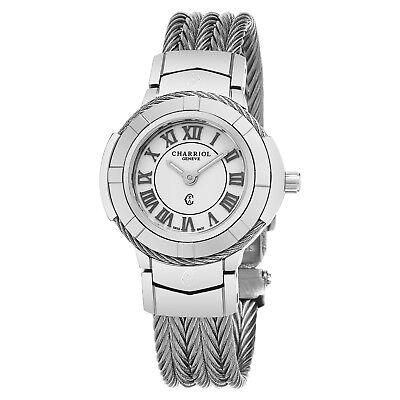 Celtic Womens Watch - Charriol Women's Celtic White Dial Stainless Steel Quartz Watch CE426S.640.007