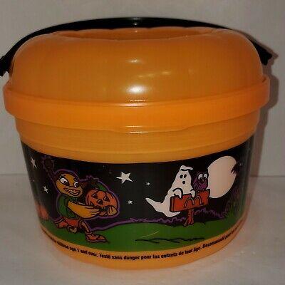 VTG 1999 McDonalds Halloween Happy Meal Bucket Trick~or~Treat Pail Pumpkin (A8)