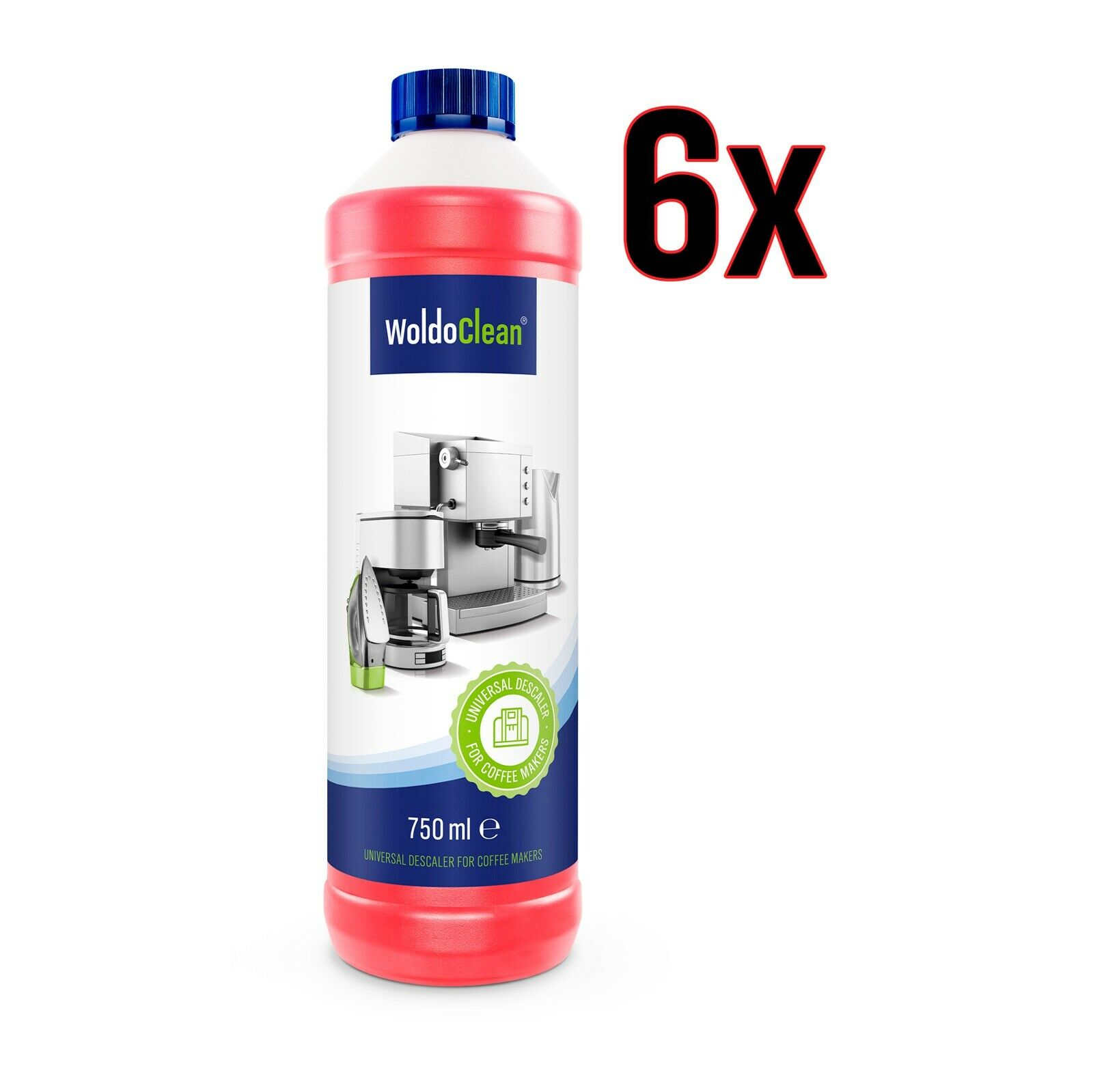 6x 750ml Entkalker für Kaffeevollautomat kompatibel für Delonghi Nespresso Jura