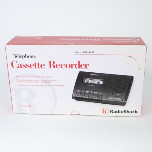 Radio Shack / Telephone Voice-Activated Cassette Tape Recorder / TCR-200 NICE!