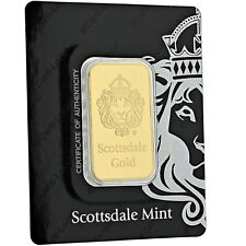 1 oz .9999 Gold Bar by Scottsdale Mint in Certi-LOCK COA #A389