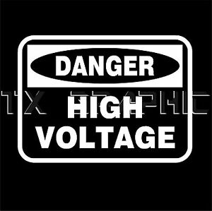 Danger High Voltage Warning Business Sign Decal Vinyl