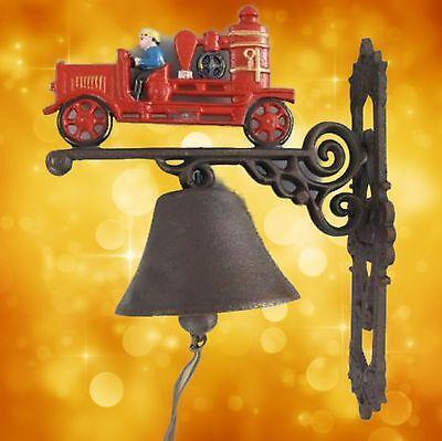 Feuerwehr Glocke Geschenk Spritzenwagen Vintage Deko Eisen Ambiente aus Gescher