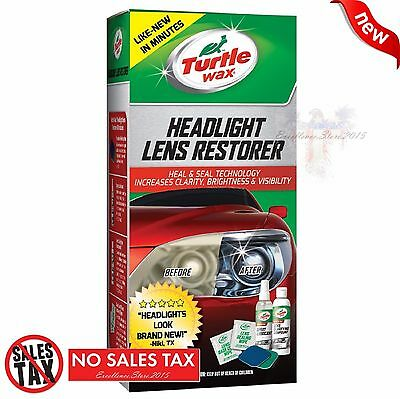 Turtle Wax T240KT Car Headlight Lens Restoration Restorer Clean Full Kit