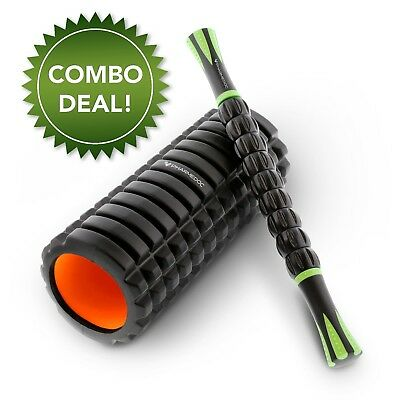Multi Muscle Roller COMBO BUNDLE - Foam Roller & Muscle Roller Massage Stick